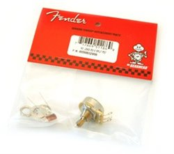 Fender 250K split shaft no load potentiometer
