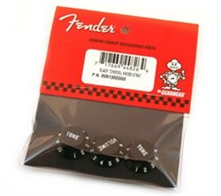 Fender stratocaster knob set black v/t/t