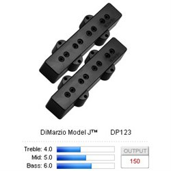 Pickup Bas Model J Black set