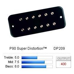 Pickup Soapbar P90 Super Distortion Black