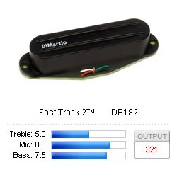 Pickup Strat Fast Track-2 Black