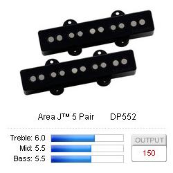Pickup set B Area J5 Black