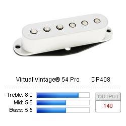 Pickup Strat Virtual Vintage 54 Pro White
