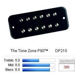 Pickup Soapbar Tone Zone P-90 Black