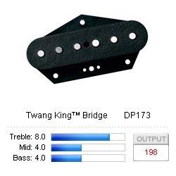 Pickup Tele Twang King/Bridge Black