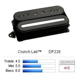 Pickup Humbucker CrunchLab/Bridge Black