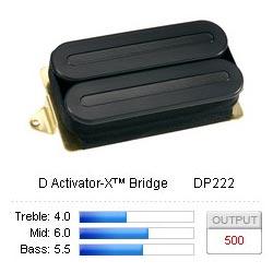 Pickup Humbucker D Activator-X/Bridge Black