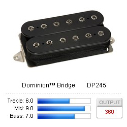 Pickup Humbucker Dominion/Bridge Black