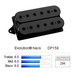 Pickup Humbucker Evolution/Neck F-Spaced Black