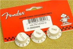Fender stratocaster knob set parchment v/t/t