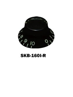 Hat knob Black with embossed numbers