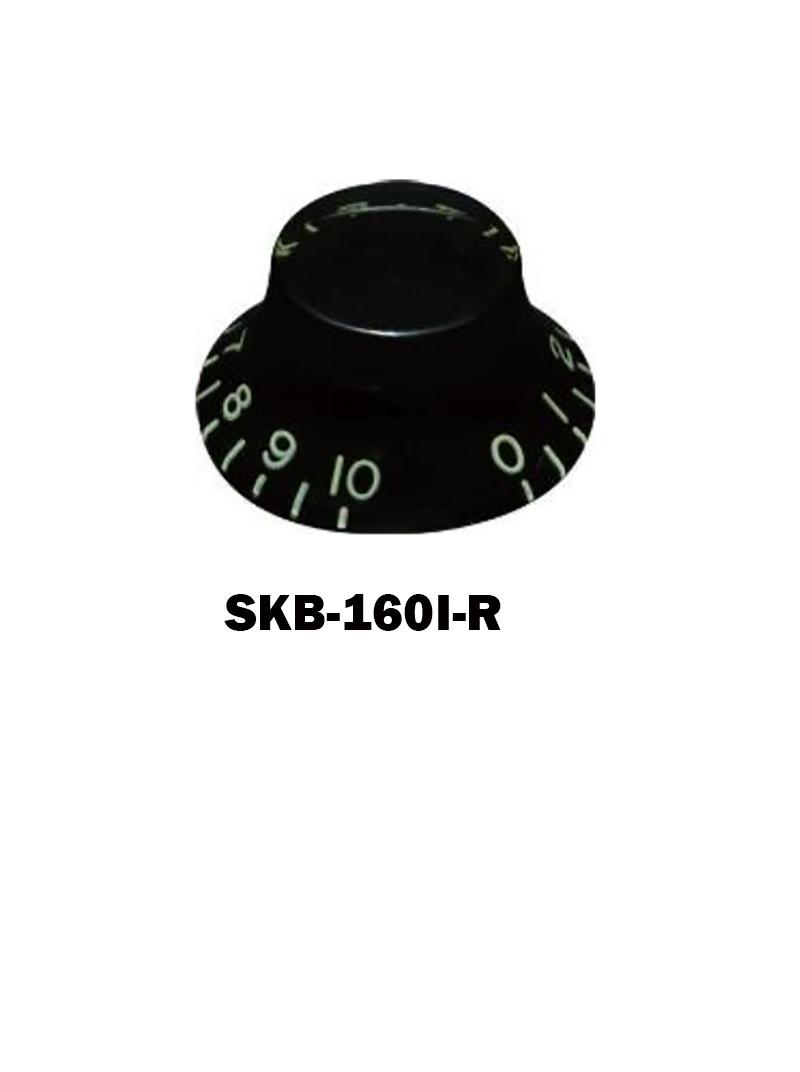 Hat knob Black with embossed numbers