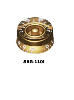 Gibson® style Speed Knob Gold with embossed numbers
