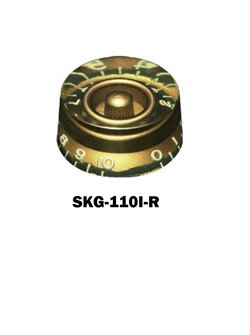 Gibson® style Speed Knob Relic Gold with embossed numbers