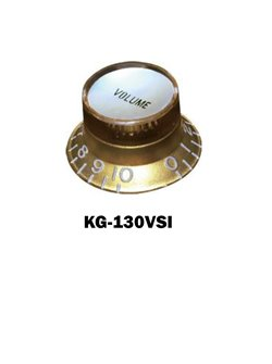 Gibson® style Gold Hat Knob with Silver volume plate.