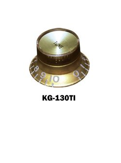 Gibson® style Gold Hat Knob with Gold tone plate.