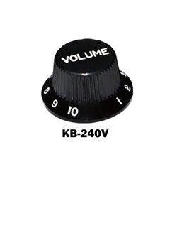 Black Fender® style ST volume knob