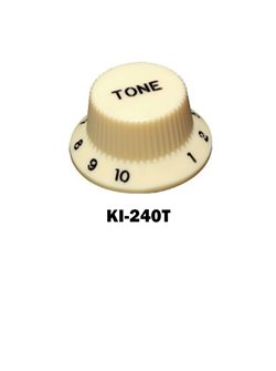 Cream Fender® style ST Tone knob