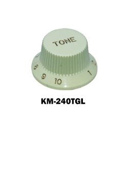 Mint green Fender® style ST Tone knob, Gold letters