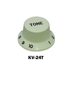 Mint green Fender® style ST Tone knob, Black letters
