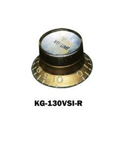 Gibson® style Relic Gold Hat Knobs with Silver volume plate.