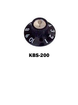Amp knob, with set screw, Black Metric only