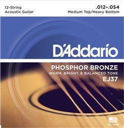 Strängset Western Phosphor Bronze 12-strängadängat 012-054