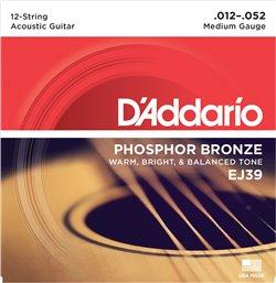 Strängset Western Phosphor Bronze 12-strängadängat 012-052