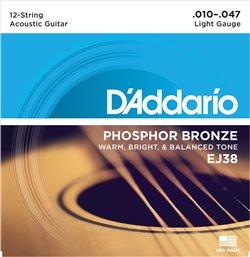 Strängset Western Phosphor Bronze 12-strängadängat 010-047