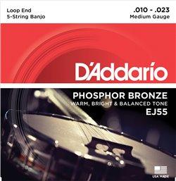 Strängset 5-strängadängad Banjo Phosphor Bronze 010-023 Medium