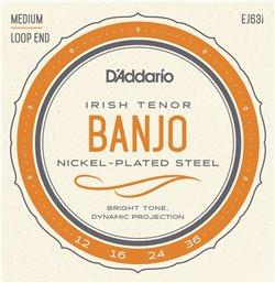 Strängset Irish Tenor Banjo Nickel 012-036