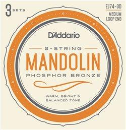 Strängset Mandolin Phosphor Bronze 011-040 Medium 3-pack