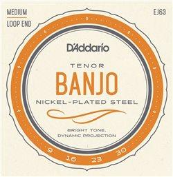 Strängset Tenor Banjo Nickel 009-030