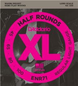 Strängset Elbas Nickel Half Rounds 045 - 100