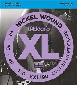 Strängset Elbas Nickel wound 040 - 100 Custom Light