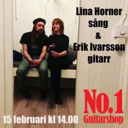 Lina Horner-sång & Erik Ivarsson-gitarr,